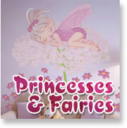 Wall Stickers Princesses & Fairies