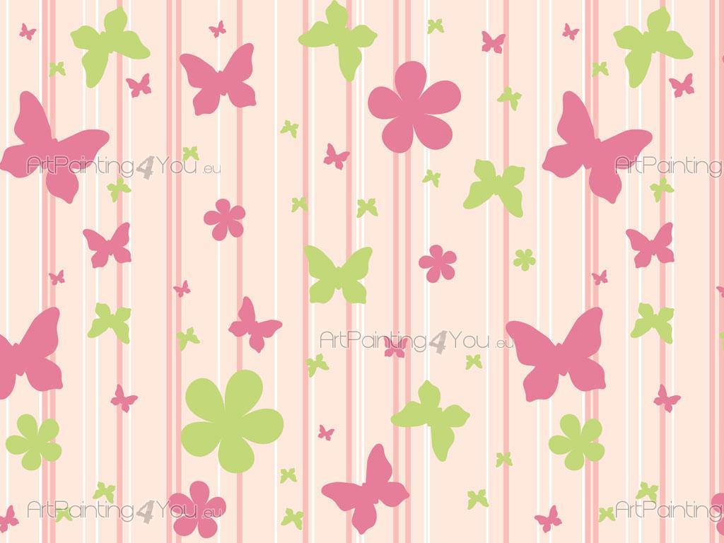 Cenefas infantiles flores mariposas - Cenefas de papel infantiles ...