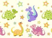 Cute Dinosaur - Kids Wallpaper Borders