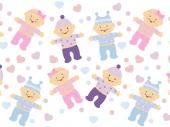 Boy & Girl - Kids Wallpaper Borders