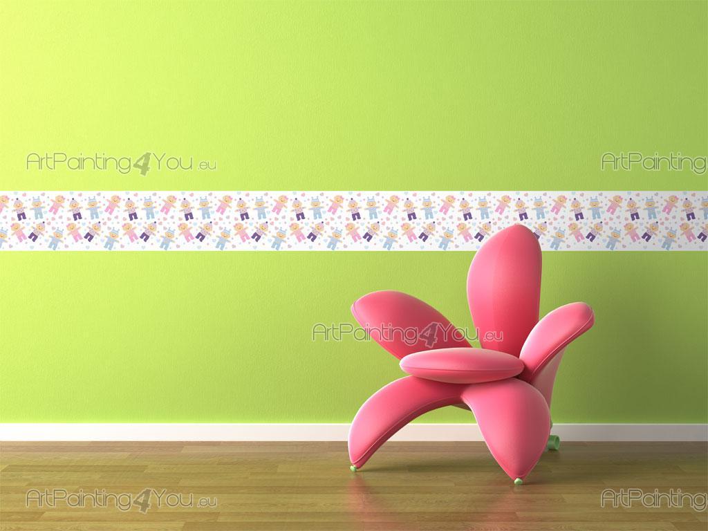 Strisce adesive per pareti bambini modificare una pelliccia for Bordi decorativi per pareti