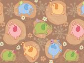 Elephants - Kids Wallpaper Borders