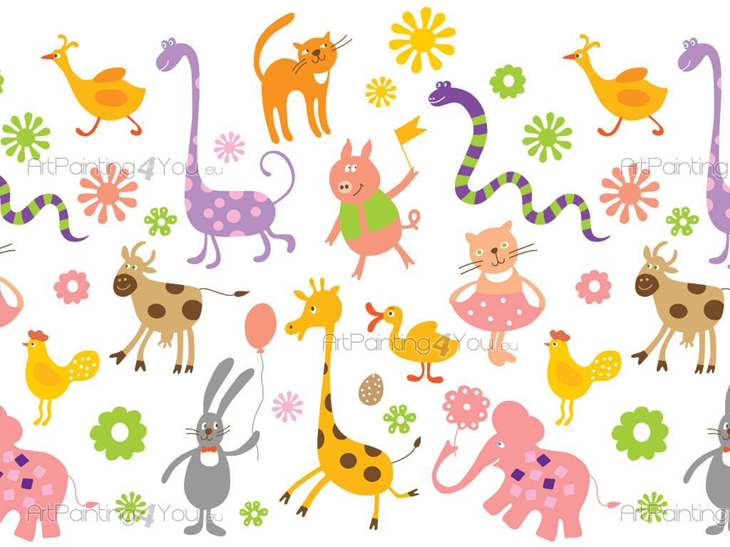 Kids Wallpaper Borders Funny Animals Artpainting4you Eu