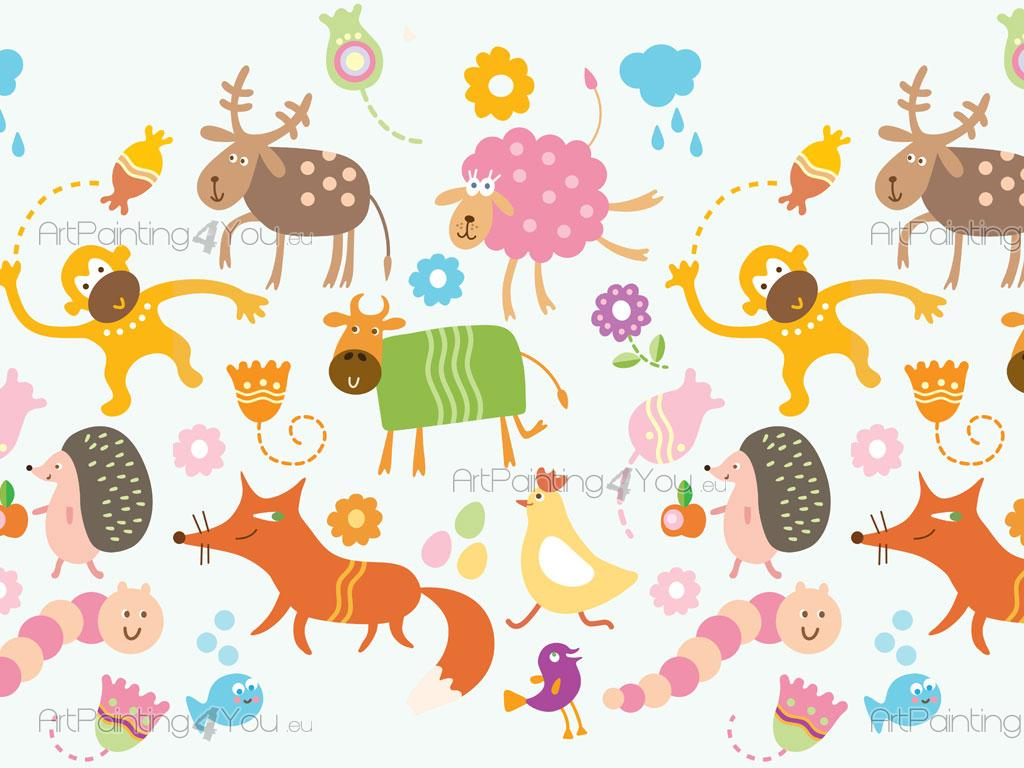 Décoration Chambre Bébé Jungle : Kid Animal Wallpaper Border