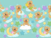 Cute Bear - Kids Wallpaper Borders