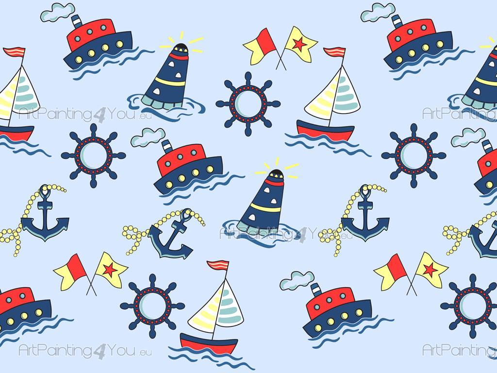 Cenefas Decorativas » Infantiles - Barcos (1102es)