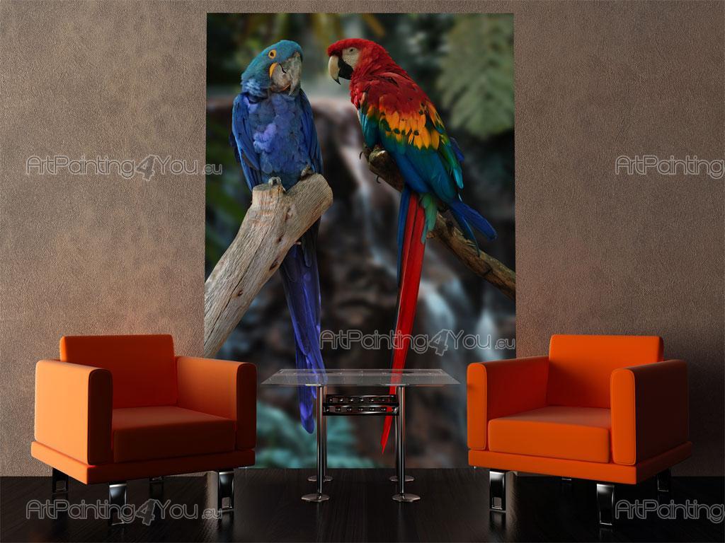Fotobehang Dieren, Canvas Printen & Posters Exotische Papegaaien ...