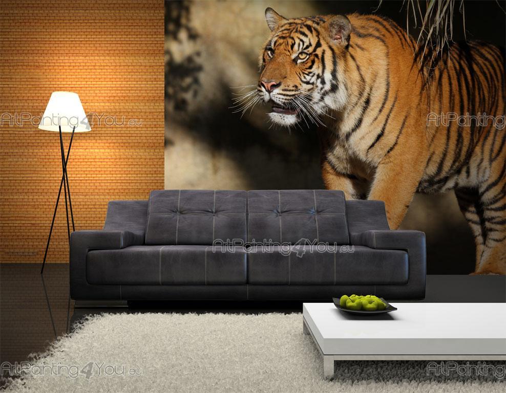 papier peint animaux poster impression sur toile tigre 1827fr. Black Bedroom Furniture Sets. Home Design Ideas