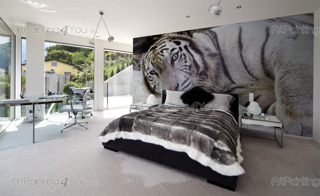 papier peint poster tigre. Black Bedroom Furniture Sets. Home Design Ideas