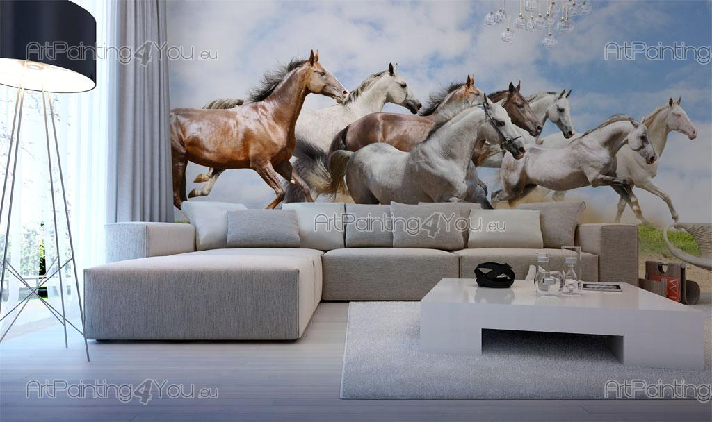 papier peint poster chevaux. Black Bedroom Furniture Sets. Home Design Ideas