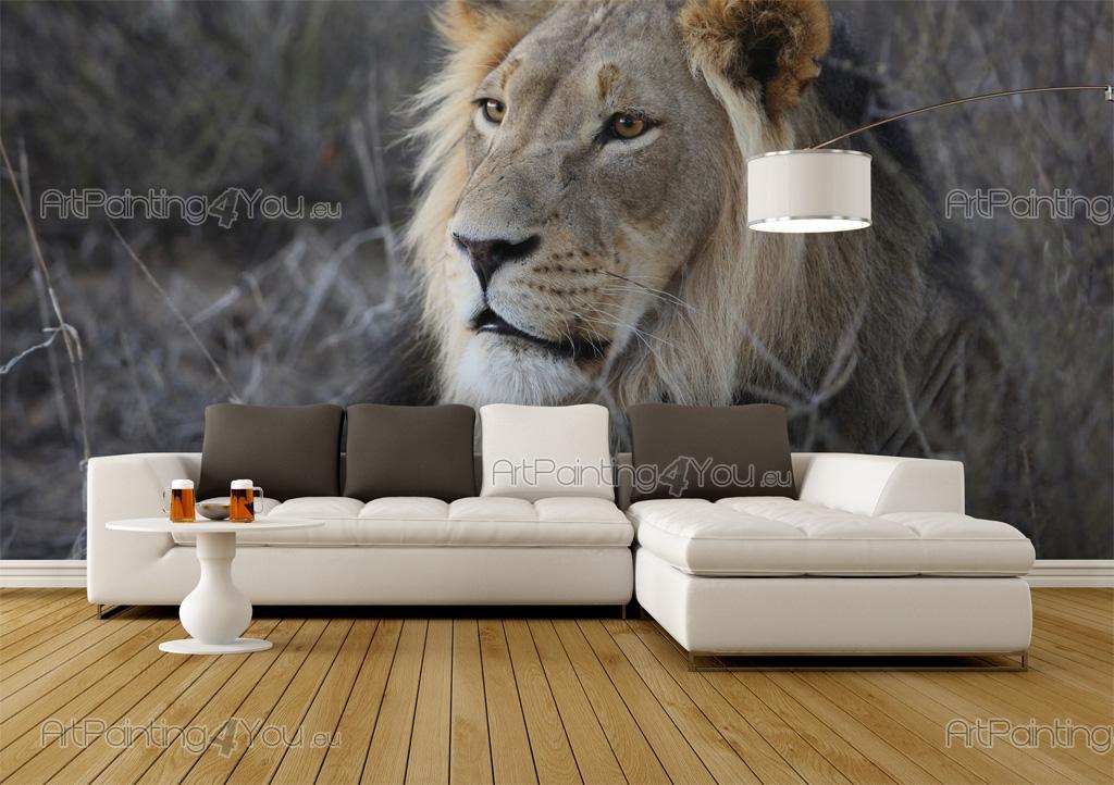 papier peint animaux poster impression sur toile lion. Black Bedroom Furniture Sets. Home Design Ideas