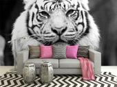 Tiger - Black and White Wall Murals & Posters