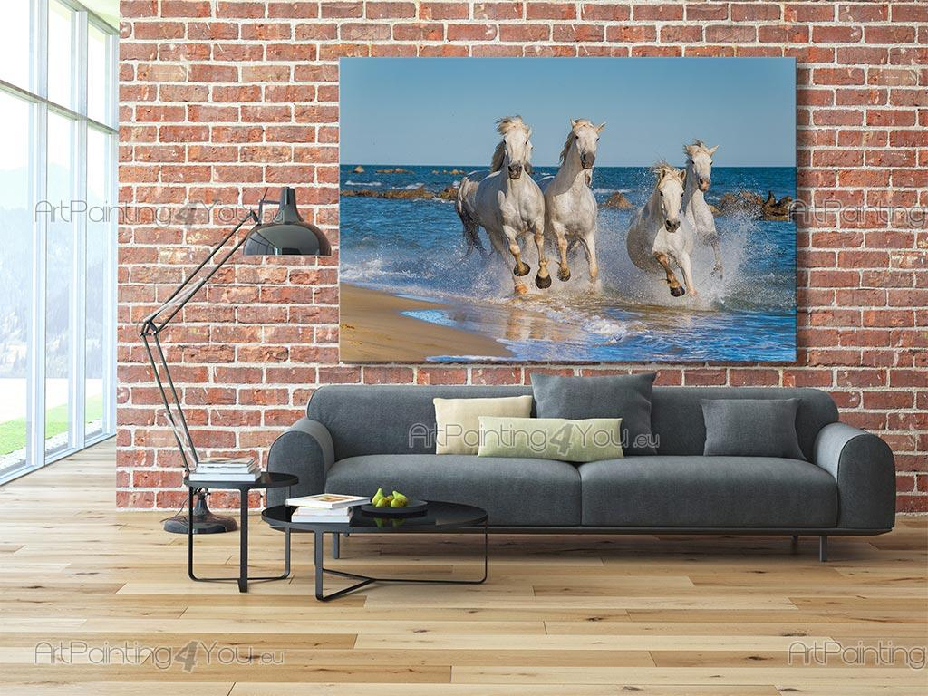 papier peint poster chevaux blancs mca1053fr. Black Bedroom Furniture Sets. Home Design Ideas