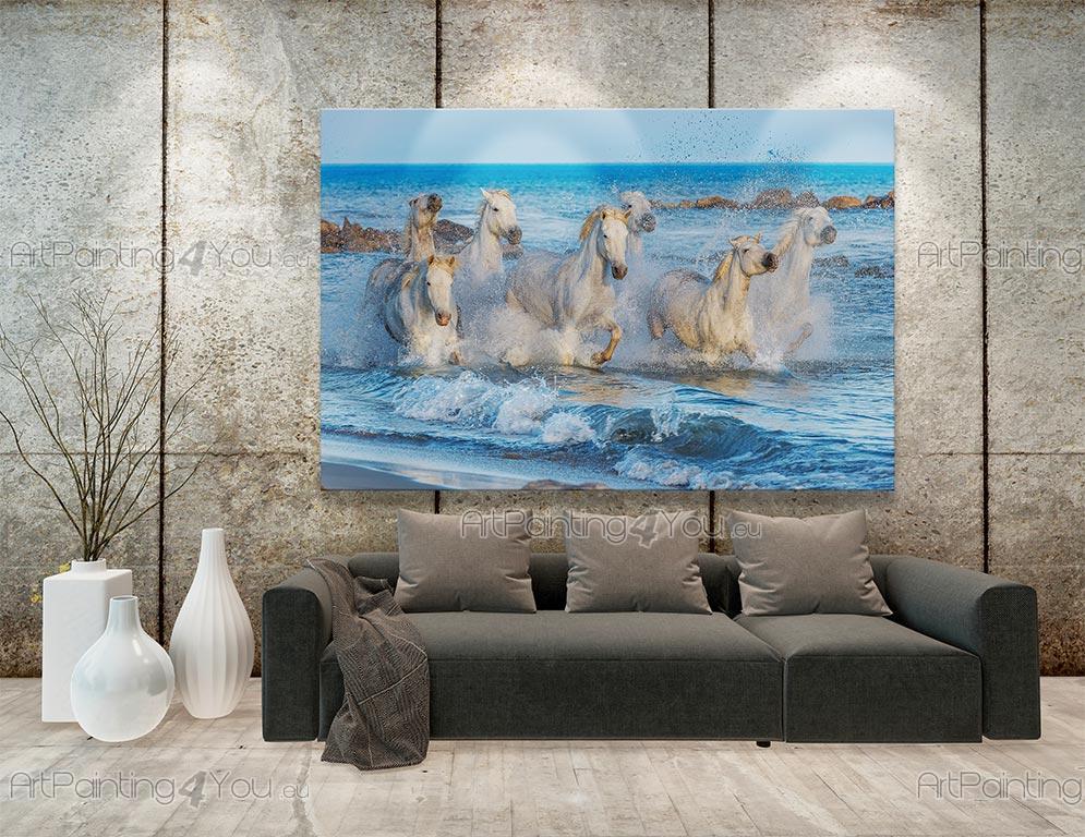 papier peint poster chevaux blancs. Black Bedroom Furniture Sets. Home Design Ideas