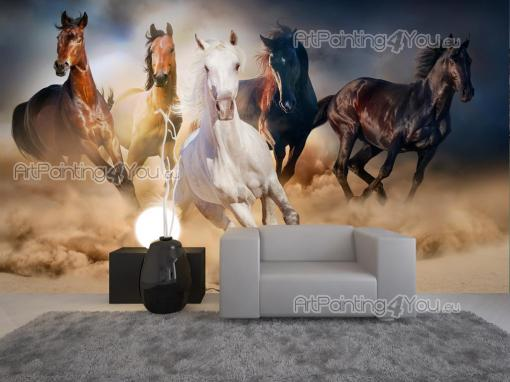 Animals Wall Murals & Posters - Bring the freedom and vivaciousness of wild horses into your living room or bedroom with a custom-sized wall mural. This herd of mustangs comes to ask...