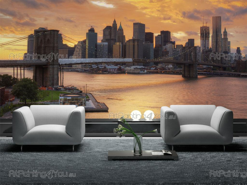 papier peint ville poster impression sur toile manhattan new york 704fr. Black Bedroom Furniture Sets. Home Design Ideas