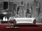 New York Panoramic View - Black and White Wall Murals & Posters