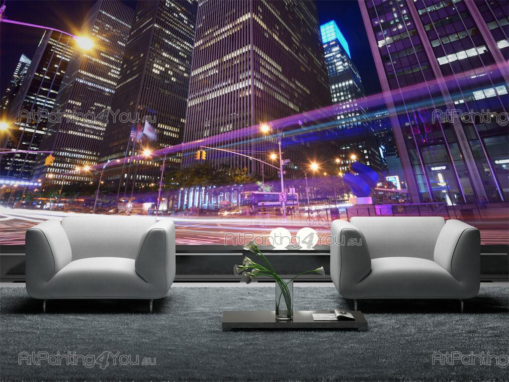 papier peint poster manhattan. Black Bedroom Furniture Sets. Home Design Ideas