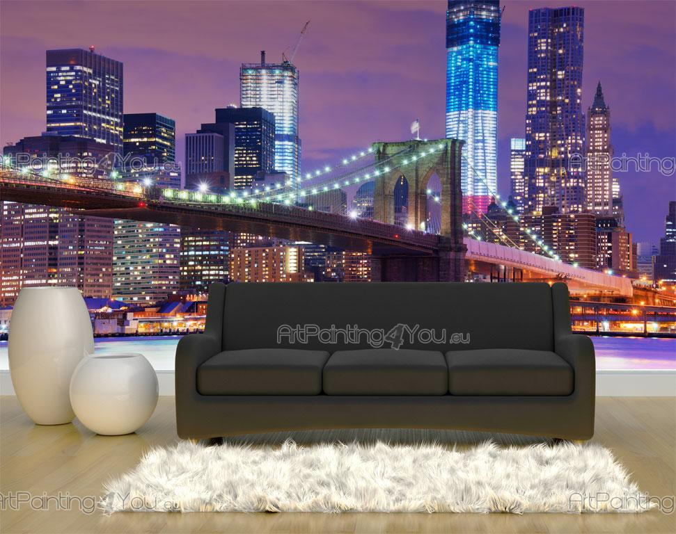papier peint poster pont brooklyn new york mcc1023fr. Black Bedroom Furniture Sets. Home Design Ideas