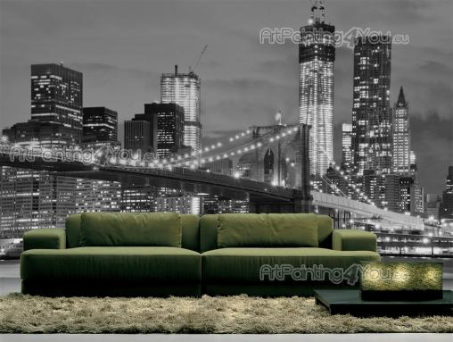 Brooklyn Bridge New York - Black and White Wall Murals & Posters