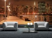Manhattan at Night - Wall Murals Cities & Posters