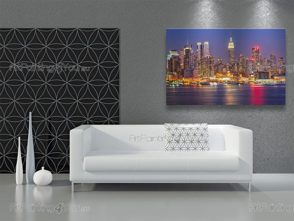 papier peint poster ville new york nuit mcc1046fr. Black Bedroom Furniture Sets. Home Design Ideas