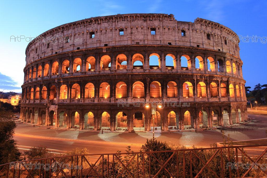 Fotobehang steden canvas printen posters rome colosseum 1575nl - Kruk wereld ...
