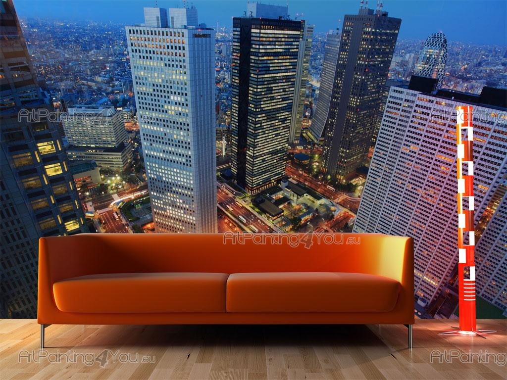 Fotomurales p sters tokio ciudad noche artpainting4you - Posters para pared ...