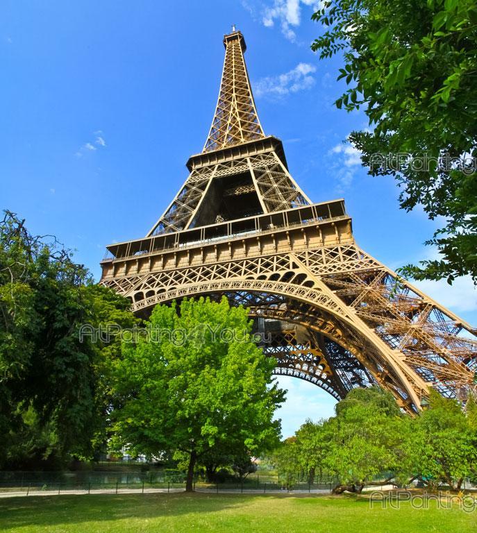 Fotobehang Steden, Canvas Printen & Posters Eiffeltoren Parijs (1593nl ...