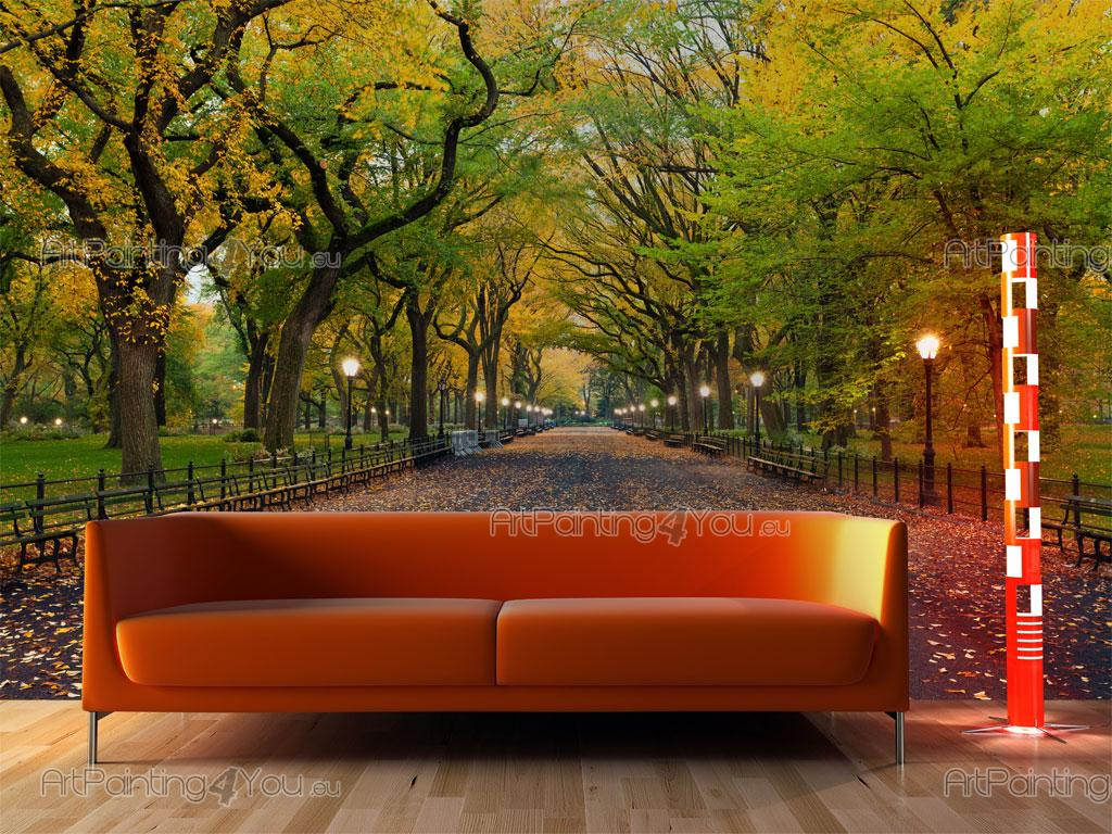 Papel de parede murais de parede cidades telas for Central park mural