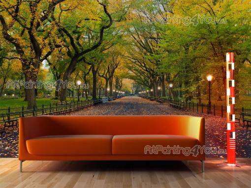 Wall murals cities canvas prints posters central park for Central park mural