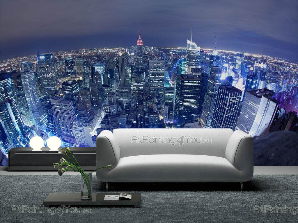 wall murals cities canvas prints posters new york panoramic view 1601en. Black Bedroom Furniture Sets. Home Design Ideas