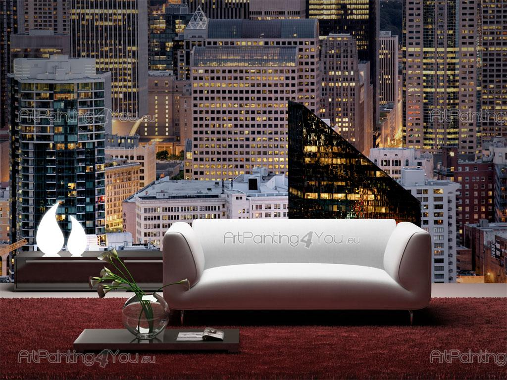 wall murals cities canvas prints posters new york skyscrapers 1605en. Black Bedroom Furniture Sets. Home Design Ideas