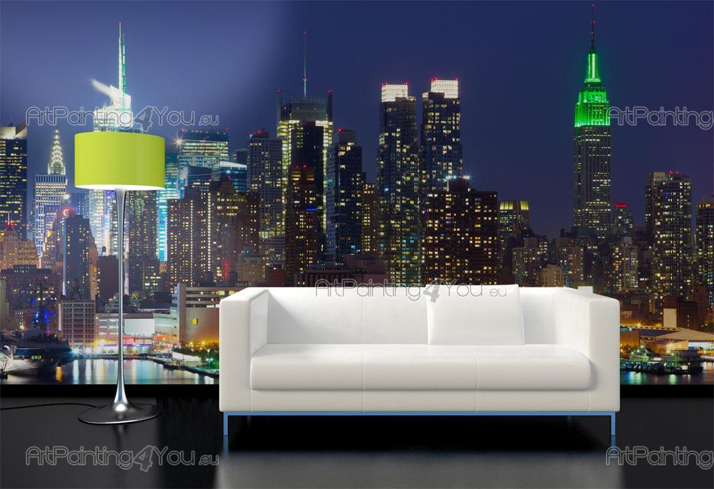 B /& W New York city skyline birds eye view wall sticker wall mural 42611435