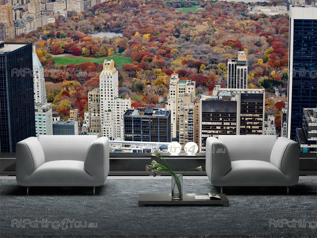 papier peint poster central park vue panoramique. Black Bedroom Furniture Sets. Home Design Ideas