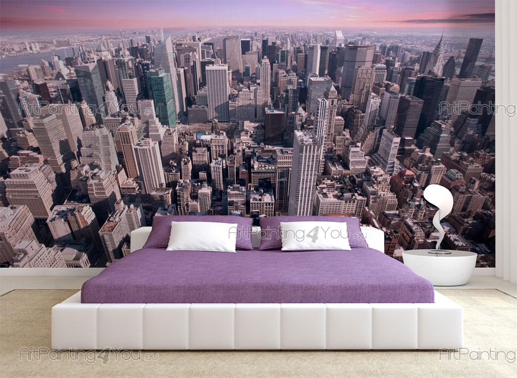 Papier peint ville poster impression sur toile new york for Decoration murale vue sur new york