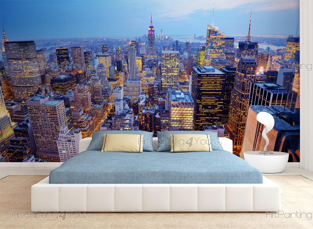 wall murals cities canvas prints posters new york panoramic view 1824en. Black Bedroom Furniture Sets. Home Design Ideas