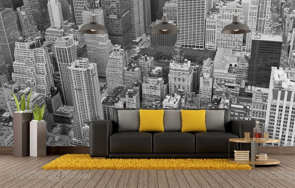 wall murals cities canvas prints posters new york panoramic view 1825en. Black Bedroom Furniture Sets. Home Design Ideas
