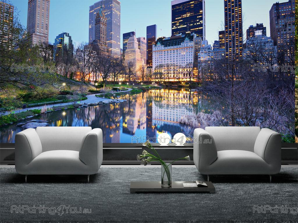papier peint ville poster impression sur toile central. Black Bedroom Furniture Sets. Home Design Ideas