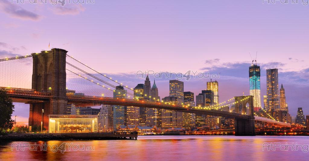 papier peint poster pont brooklyn new york mcc1139fr. Black Bedroom Furniture Sets. Home Design Ideas