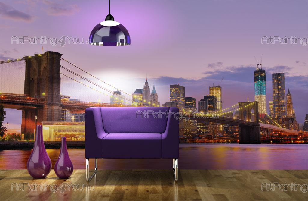fototapeten poster brooklyn bridge new york. Black Bedroom Furniture Sets. Home Design Ideas