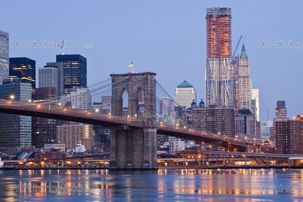 papier peint poster pont brooklyn new york mcc1141fr. Black Bedroom Furniture Sets. Home Design Ideas