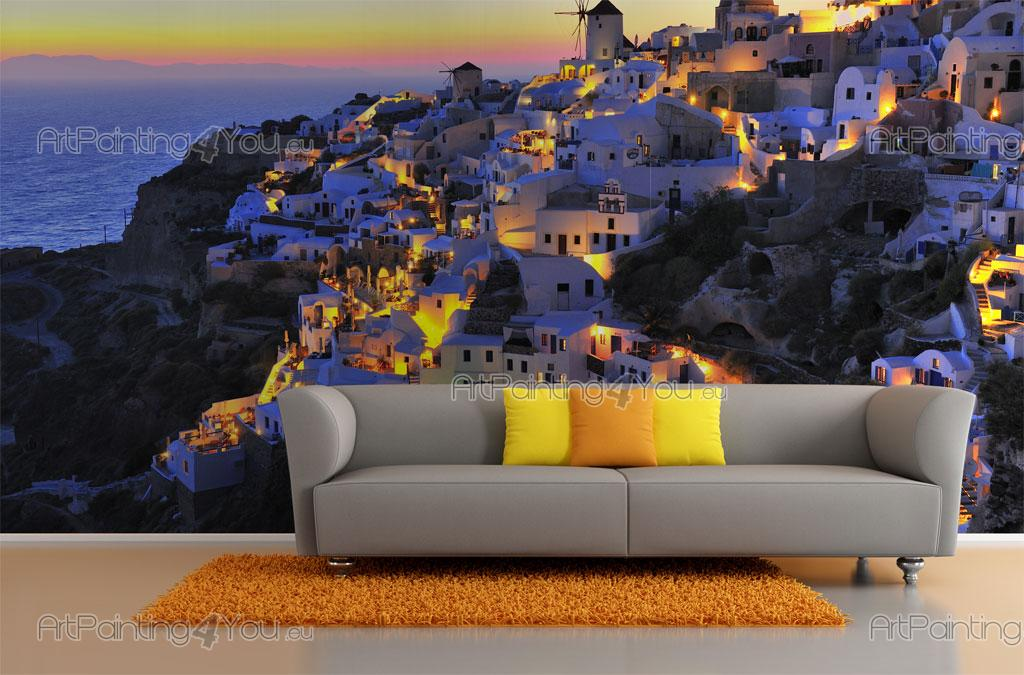 wall murals cities canvas prints amp posters santorini wall murals graffiti amp music canvas prints amp posters