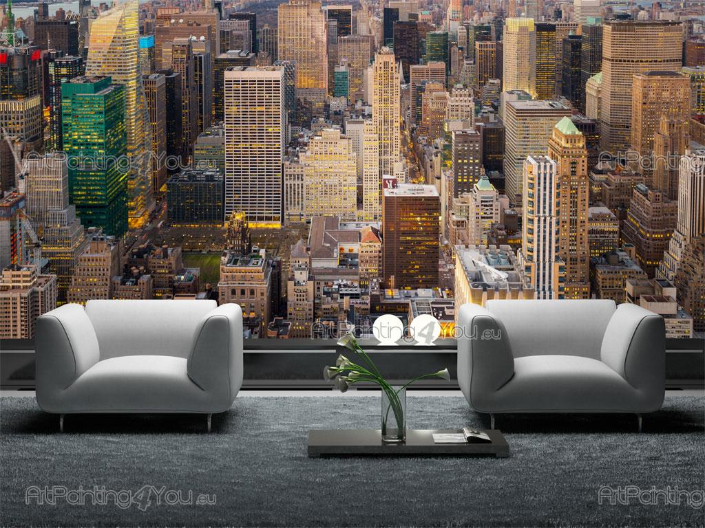 wall murals posters new york skyscrapers mcc1150en. Black Bedroom Furniture Sets. Home Design Ideas