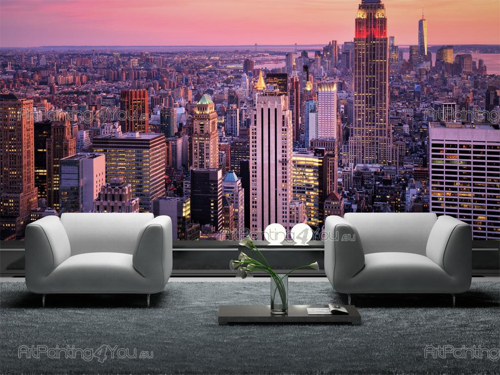 papier peint poster new york vue panoramique mcc1159fr. Black Bedroom Furniture Sets. Home Design Ideas