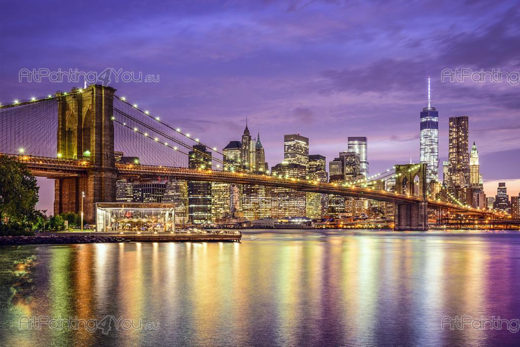 papier peint poster pont brooklyn new york mcc1172fr. Black Bedroom Furniture Sets. Home Design Ideas