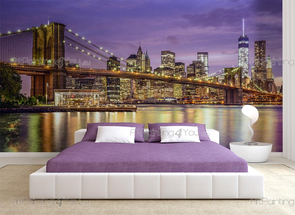 Wall Murals Posters Brooklyn Bridge New York Artpainting4you Eu