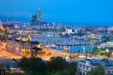 Wall Murals Cities & Posters - Wall murals with stunning and spectacular landscape of the city of Barcelona for interior decoration...