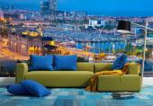 Barcelona Spain - Wall murals with stunning and spectacular landscape of the city of Barcelona for interior decoration