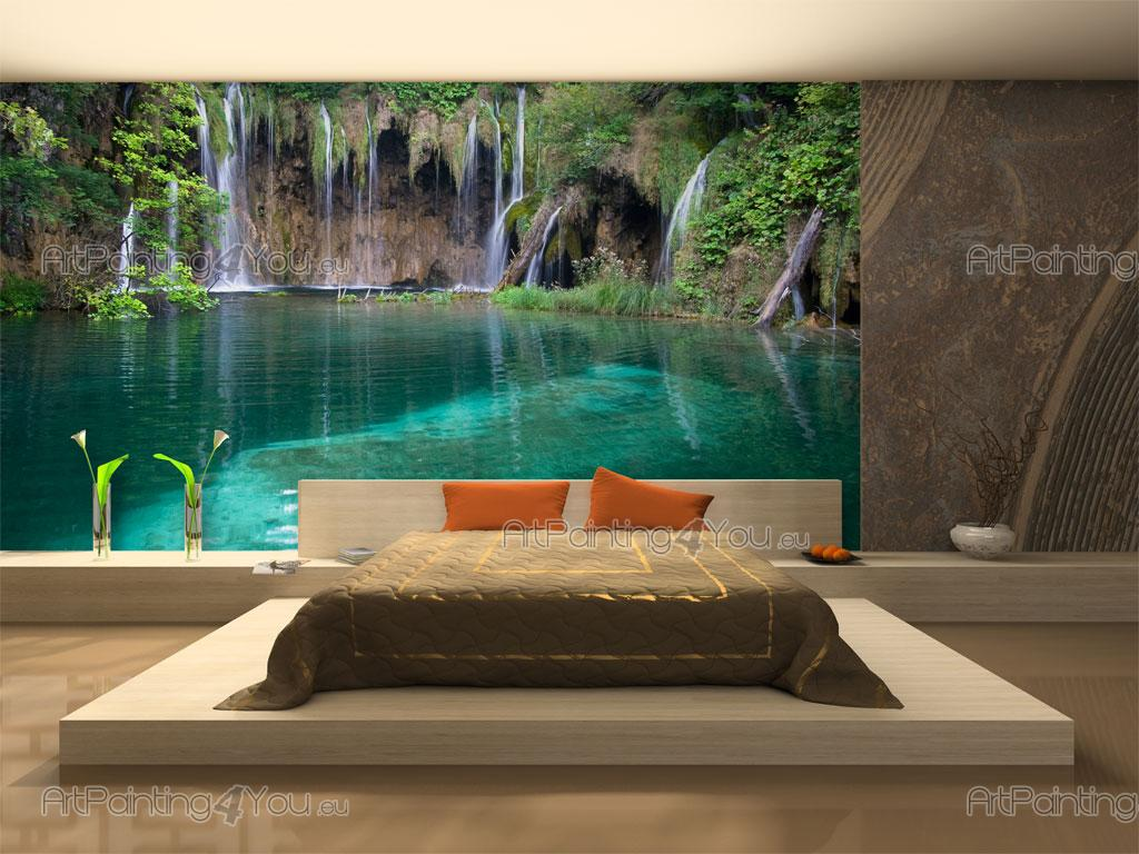 Wall murals waterfalls canvas prints posters tropical for Cheap wall mural posters